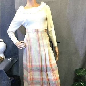 50s College Town Pleated skirt Vintage
